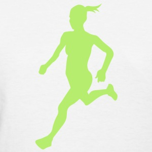 Cross country female Women's T-Shirts - Women's T-Shirt