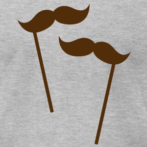 two moustaches on sticks  T-Shirts - Men's T-Shirt by American Apparel