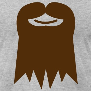 GOATEE beard with moustache T-Shirts - Men's T-Shirt by American Apparel