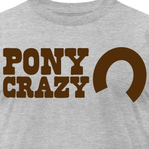 pony crazy T-Shirts - Men's T-Shirt by American Apparel