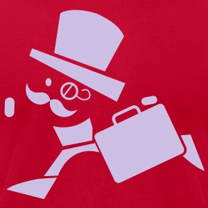mustachio man off to work- with a brief case T-Shirts - Men's T-Shirt by American Apparel