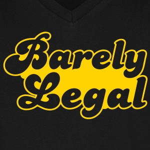 barely legal T-Shirts - Men's V-Neck T-Shirt by Canvas