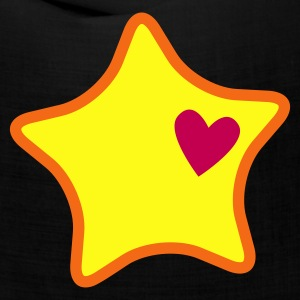 super rounded star with a love heart Caps - Bandana