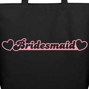 bridesmaid with little hearts Bags  - Eco-Friendly Cotton Tote