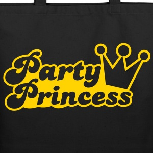 party princess with cute crown  Bags  - Eco-Friendly Cotton Tote