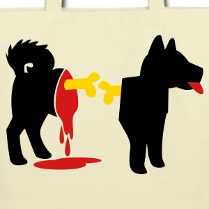 dead zombie dog with exposed bones and blood! Bags  - Eco-Friendly Cotton Tote