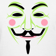 Design ~ Colorful Guy Fawkes Women's Tee