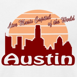 Austin (Live Music Capital of the World) - Men's T-Shirt by American Apparel
