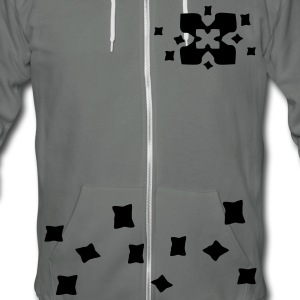 unique x cross pattern vector graphic art Unisex Fleece Zip Hoodie by American Apparel - Unisex Fleece Zip Hoodie by American Apparel