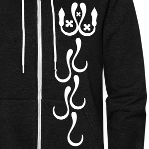 unique pattern  hearts vector graphic art Unisex Fleece Zip Hoodie by American Apparel - Unisex Fleece Zip Hoodie by American Apparel