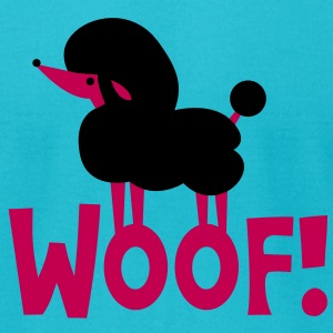 woof! french chic poodle puppy T-Shirts - Men's T-Shirt by American Apparel