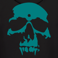 Design ~ The Gang Without A Name - Black and Teal Hoodie - Swag Skull