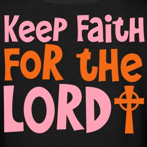 KEEP FAITH FOR THE LORD  Women's T-Shirts - Women's V-Neck T-Shirt