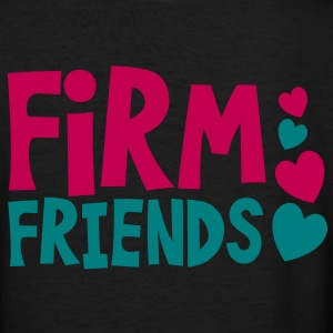 firm friends with love hearts cute font Women's T-Shirts - Women's V-Neck T-Shirt