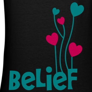 belief with love heart balloons uplifting Women's T-Shirts - Women's V-Neck T-Shirt