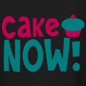 CAKE NOW! cupcake in  and blue Women's T-Shirts - Women's V-Neck T-Shirt