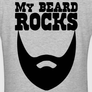 MY BEARD ROCKS!  Women's T-Shirts - Women's V-Neck T-Shirt