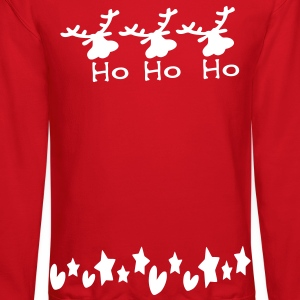 ho ho ho txt reindeer christmas vector graphic art Men's Crewneck Sweatshirt - Crewneck Sweatshirt