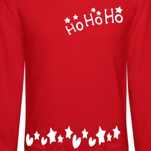 ho ho ho txt stars hearts christmas vector graphic art Men's Crewneck Sweatshirt - Crewneck Sweatshirt