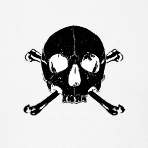 black skull x bones - skull and bones - Men's T-Shirt