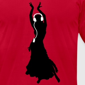 Flamenco dancing Dancing Queen Headphones T-Shirts - Men's T-Shirt by American Apparel
