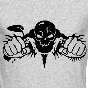 Skull Motorcycle Long Sleeve Shirts - Men's Long Sleeve T-Shirt by Next Level