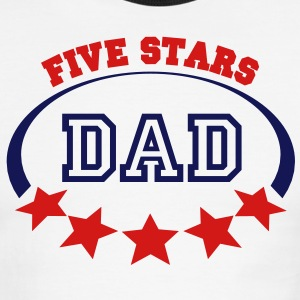 5 stars dad - Men's Ringer T-Shirt