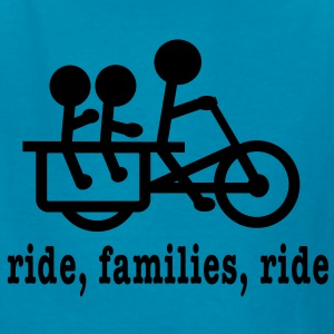 Longtail Ride Families (lower case) - Kids' T-Shirt