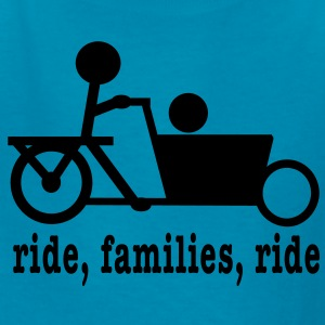 Bakfiets Ride Families (lower case) - Kids' T-Shirt