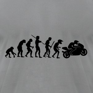 Motorcycle Rider Evolution Racing Supersport - Men's T-Shirt by American Apparel