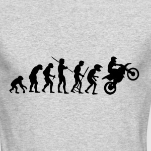 Motorcycle Rider Evolution Cross - Men's Long Sleeve T-Shirt by Next Level
