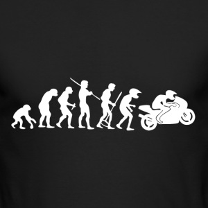 Motorcycle Rider Evolution Racing Supersport - Men's Long Sleeve T-Shirt by Next Level
