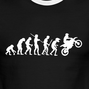 Motorcycle Rider Evolution Cross - Men's Ringer T-Shirt