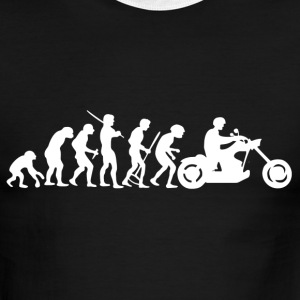 Motorcycle Rider Evolution Chopper Cruiser - Men's Ringer T-Shirt