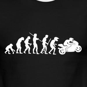 Motorcycle Rider Evolution Racing Supersport - Men's Ringer T-Shirt
