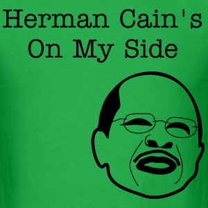 Herman Cain On My Side - Men's T-Shirt