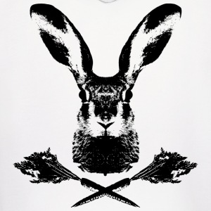 rabbit wild hare cony leveret coney pet jack rabbit carrot bunny bunnies lepus Hoodies - Men's Hoodie