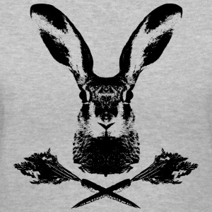 rabbit wild hare cony leveret coney pet jack rabbit carrot bunny bunnies lepus Women's T-Shirts - Women's V-Neck T-Shirt