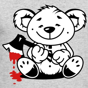 Bear with a bloody ax Long Sleeve Shirts - Men's Long Sleeve T-Shirt by Next Level