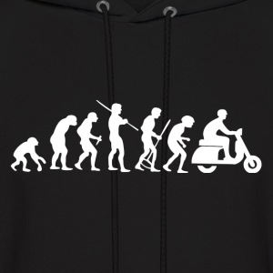 Motorcycle Rider Evolution Scooter Vespa - Men's Hoodie