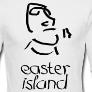 Design ~ Easter Island Moai Ancient Shirt (Text) [Longsleeve]