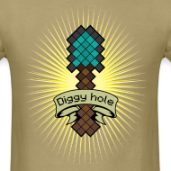 Design ~ Mens Tee: Diggy Hole Spade