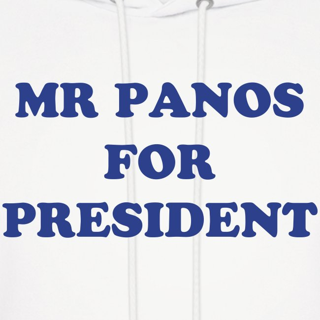 Mens Panos For President Hoody