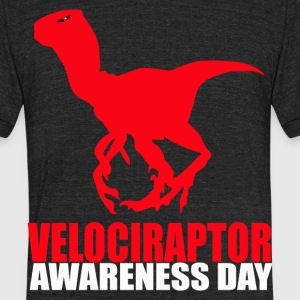 Velociraptor Awareness Day  - Unisex Tri-Blend T-Shirt by American Apparel