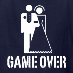 Game Over Bride Groom Wedding Kids' Shirts