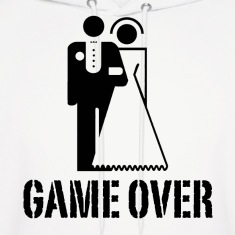 Game Over Bride Groom Wedding Hoodies