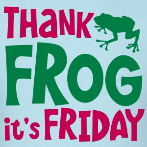 THANK FROG IT's FRIDAY office humour with cute little frog T-Shirts - Men's T-Shirt