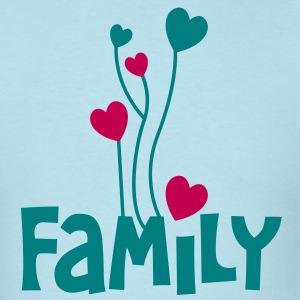 family word with lovely love heart balloons T-Shirts - Men's T-Shirt