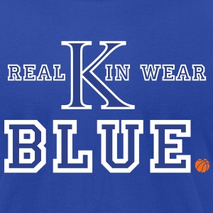 UK Wildcats Basketball - Real Kin Wear Blue T-Shirts - Men's T-Shirt by American Apparel
