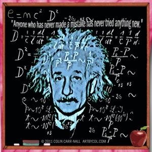 Theory of Relativity T-Shirt Design by Colin Carr-Nall © 2011 COLIN CARR-NALL  ARTBYCOL.COM T-Shirts - Unisex Tie Dye T-Shirt